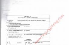 英国结婚证公证样本