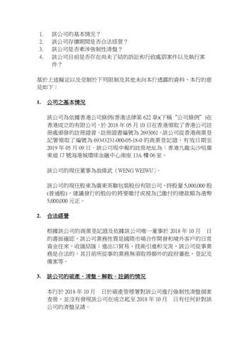 香港公司法律意见书副本-3