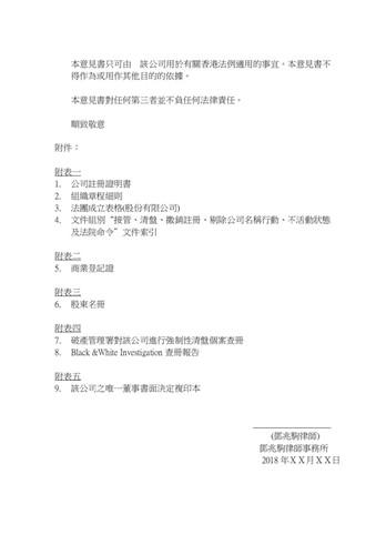 香港公司法律意见书副本-5