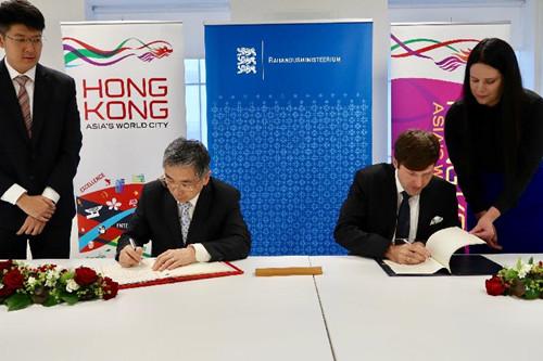 香港与爱沙尼亚签订全面性税务协定