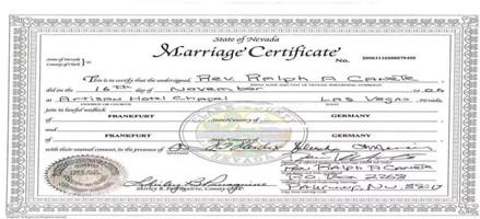 美国结婚证公证